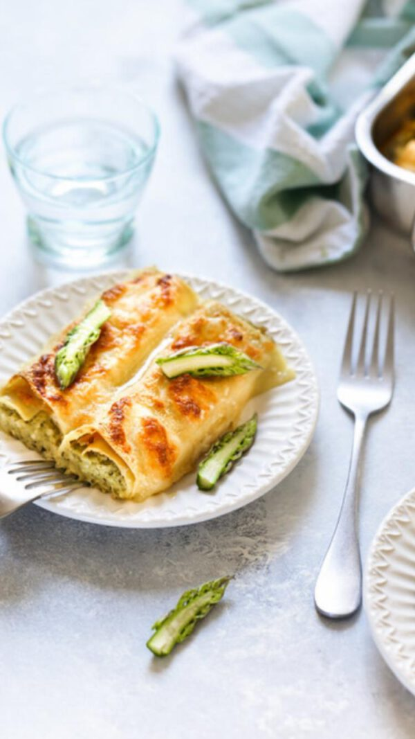 Cannelloni met witte asperges
